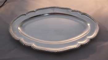 A George 111 silver meat platter